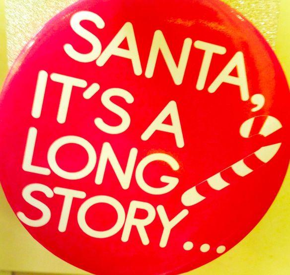 - endnu engang mødte den ægte julemand (men dog for en gangs skyld  forsøgte at gøre en lang historie meget, meget kort)