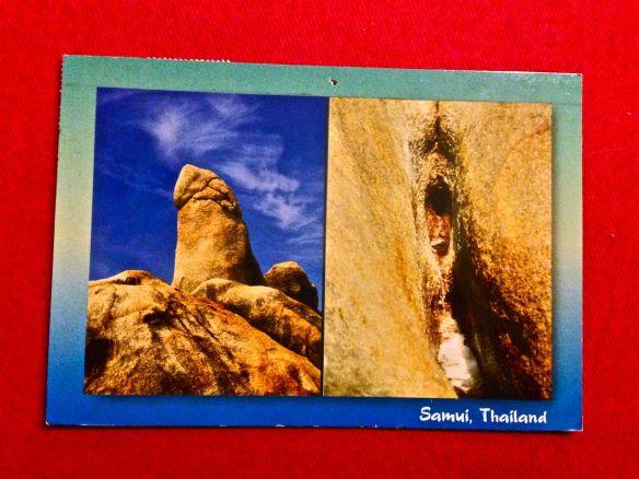 Postkort fra upassende søster, som jeg modtog umiddelbart inden min konfirmation. Jeg giver omverdenen skylden for al den upassenhed, som jeg blev smittet med i en skræmmende tidlig alder!